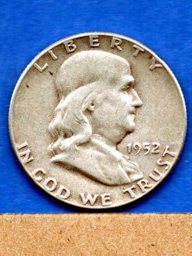 1952 Franklin  Half Dollar Silver US Coin Money