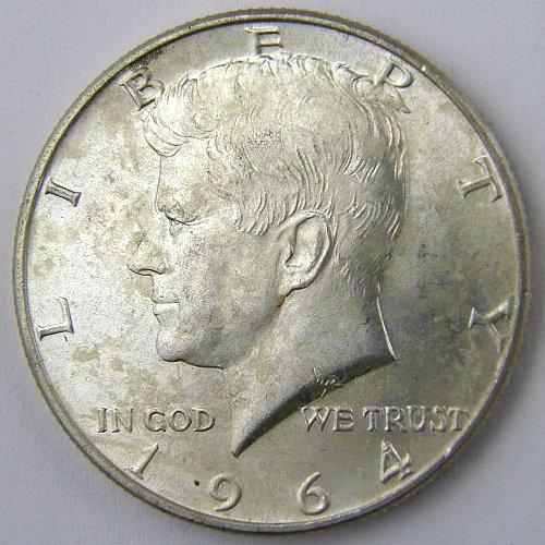 """1964D Kennedy Half Dollar #2 Minor DDO """"We Trust"""""""