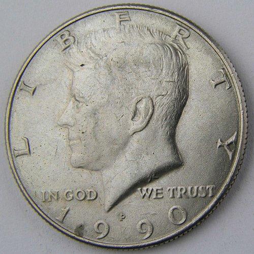 1990P Kennedy Half Dollar #1