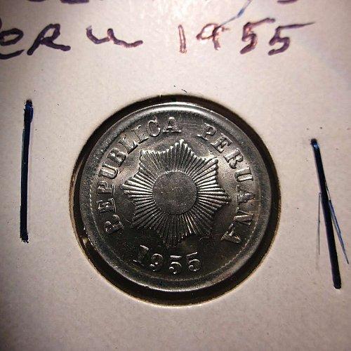 1955 Peru 2 Centavos     WM-0155
