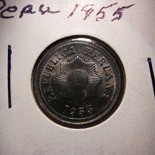 1955 Peru 2 Centavos     WM-0156