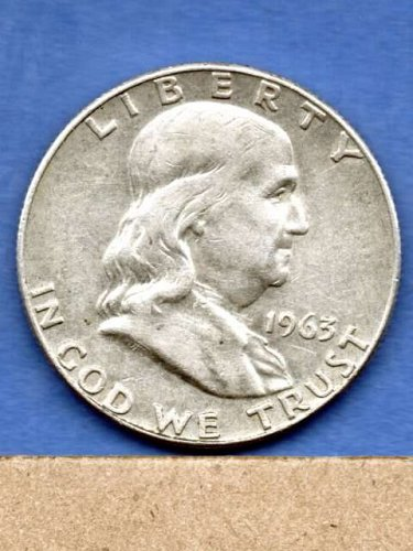1963 D Franklin Silver Half  Dollar Natural US Coin Money