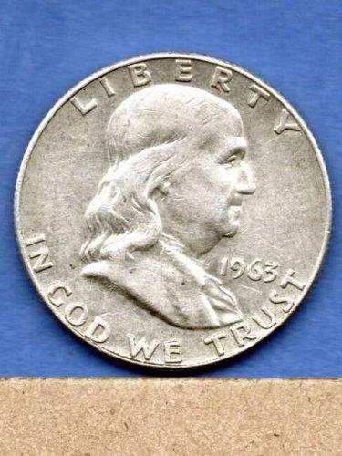 1963 D Franklin Silver Half  Dollar Natural US Coin Money