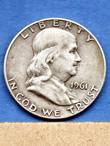 1961 - D Franklin Silver Half Dollar Genuine US Coin Money