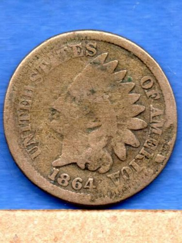 1864 CN Indian Head Penny Genuine  US Coin Money---REDUCED---16.99 - to -14.99