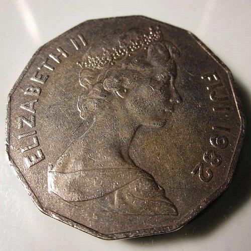 1982  Fiji 50 Cents     WM-0158