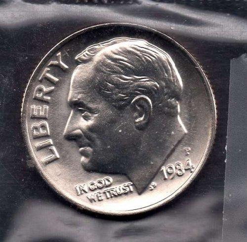 1984d BU Roosevelt Dime  #3 *