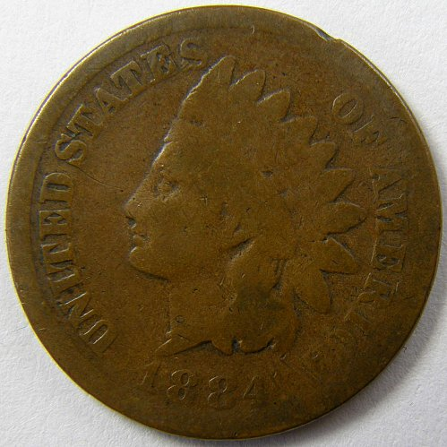 1884 P Indian Head Cent #4
