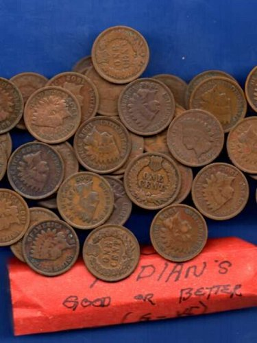 Roll Mixed  Dated Indian Head Pennies US Coin Money