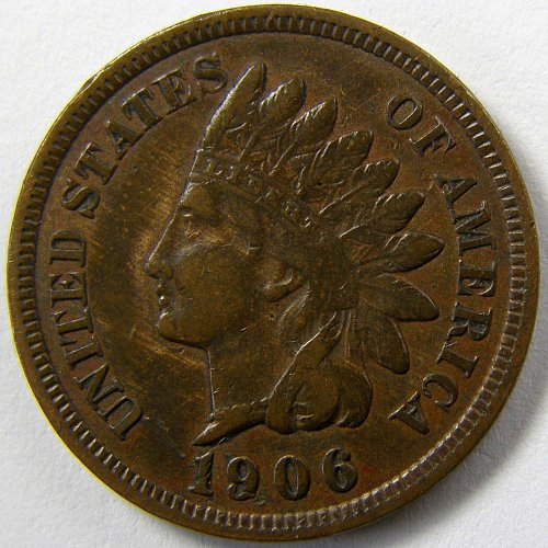 1906 P Indian Head Cent #4