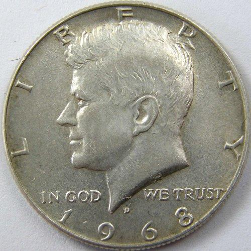 1968 D KENNEDY HALF DOLLAR #2