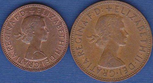 Great Britian 1/2 Penny & 1 Penny 1966