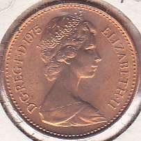 Great Britian 1/2 New Penny 1975