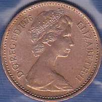 Great Britian 1/2 New Penny 1976