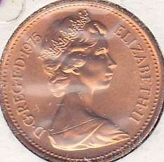 Great Britian 1 New Penny 1976