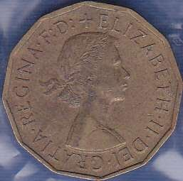 Great Britain 3 Pence 1955
