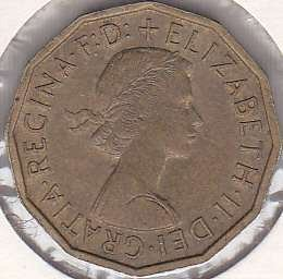 Great Britain 3 Pence 1960