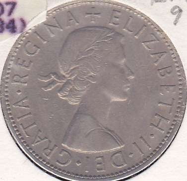 Great Britain 1/2 Crown 1958