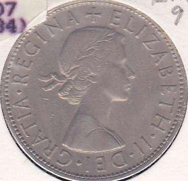 Great Britain 1/2 Crown 1958