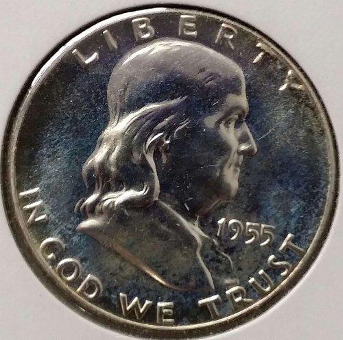 1955 Franklin Half Dollar ~ Proof