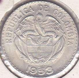 Colombia 20 Centavos 1953