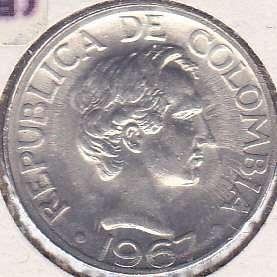 Colombia 20 Centavos 1967