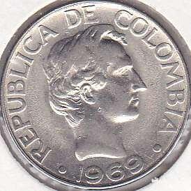 Colombia 20 Centavos 1969
