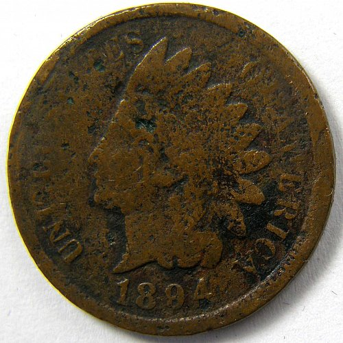 1894 P Indian Head Cent #5