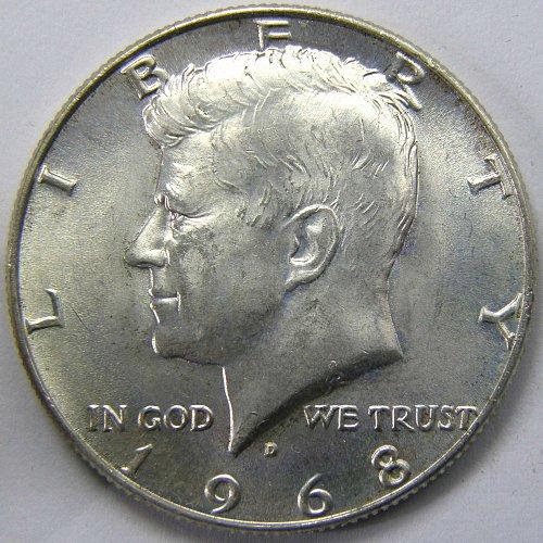 1968 D Kennedy Half Dollar #3
