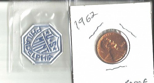1962 P  PROOF  LINCOLN CENT