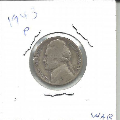 1943 P  JEFFERSON WAR NICKEL