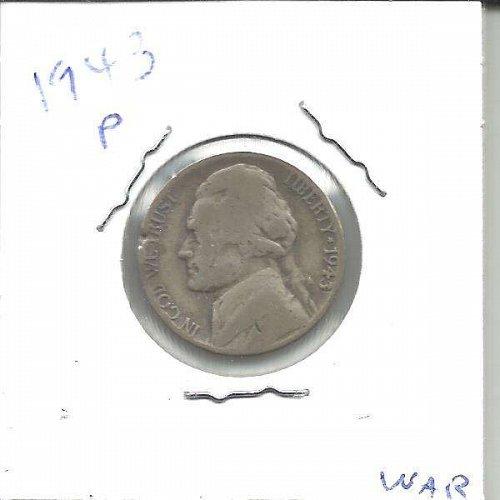 1943 P  JEFFERSON WAR NICKEL