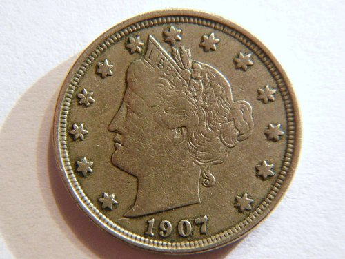 1907-P Liberty V Nickel