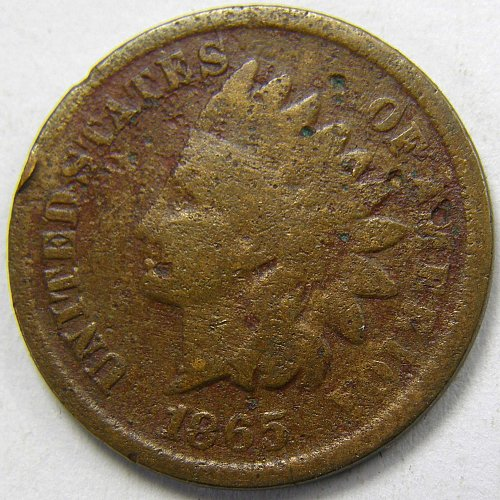 1865 P Indian Head Cent #3