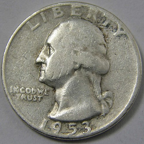 1953 D Washington Quarter #1
