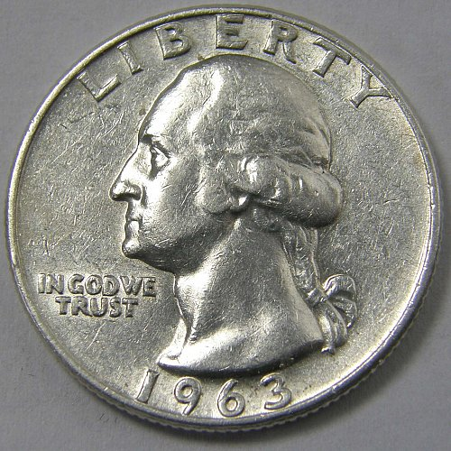 1963 D Washington Quarter #2