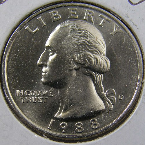 1988 D Washington Quarter