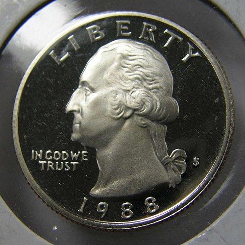 1988 S Washington Quarter