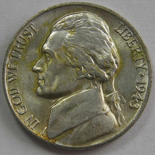 1943 P Jefferson Nickel