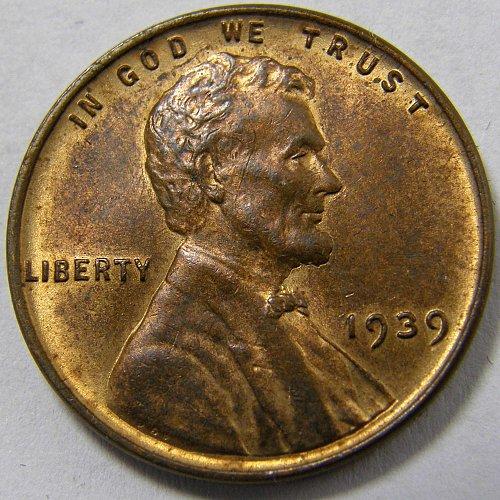 1939 P Lincoln Wheat Cent #1