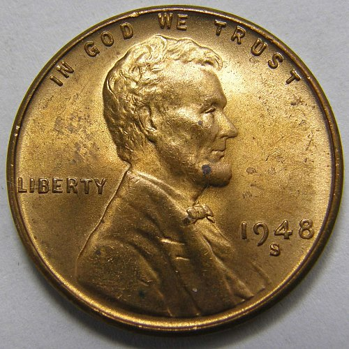 1948 S Lincoln Wheat Cent #1