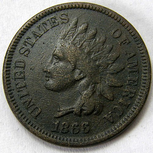 1866 P Indian Head Cent #5