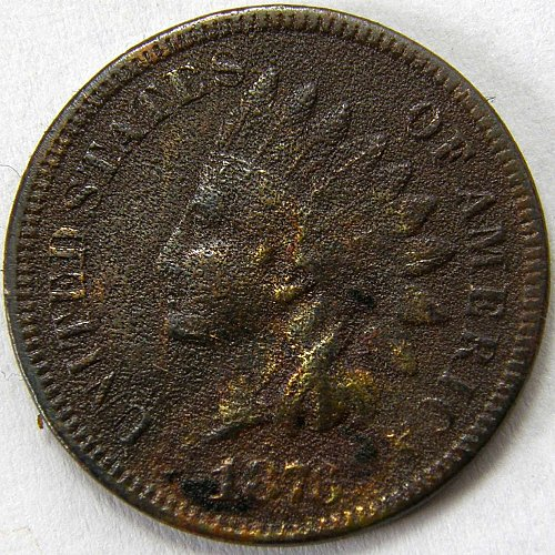 1876 P Indian Head Cent #3