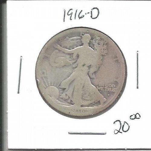 1916 D  WALKER HALF DOLLAR