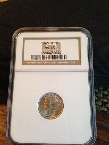 1945  D Mercury Dime  ANA MS-65