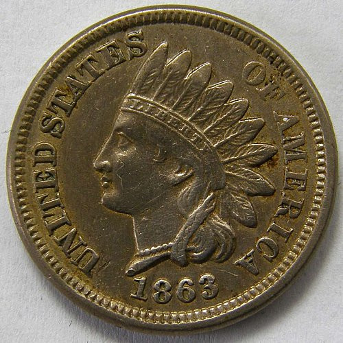 1863 P Indian Head Cent #4