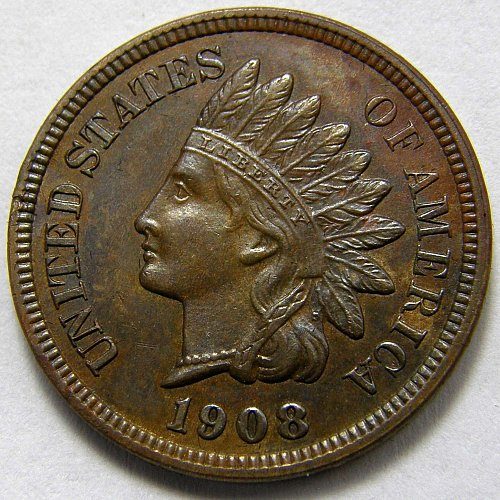1908 P Indian Head Cent #8