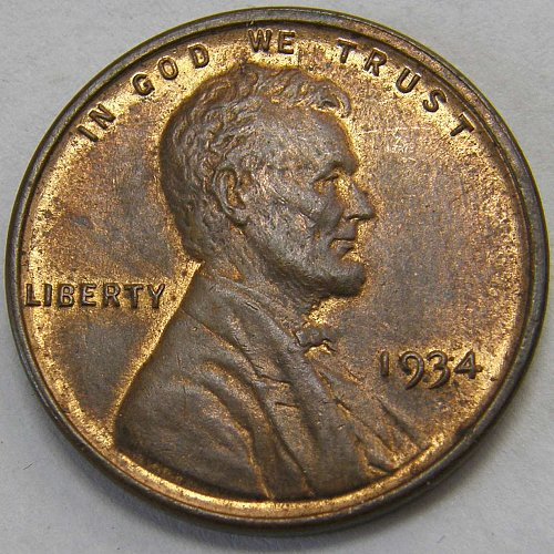1934 P Lincoln Wheat Cent #2