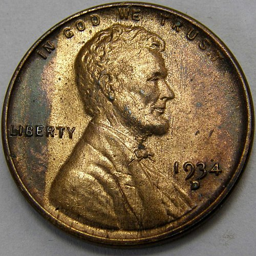 1934 D Lincoln Wheat Cent #1