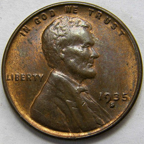 1935 S Lincoln Wheat Cent #1